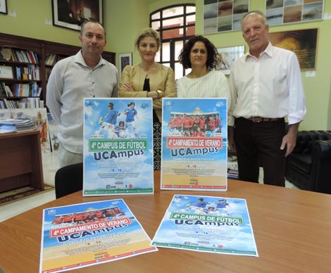 La UCA presenta la IV edición del Campus de Fútbol y del Campamento Infantil de Verano 'UCAmpus'