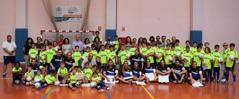 Clausura del V Campus Infantil de Fútbol UCA en el Complejo Deportivo de Puerto Real