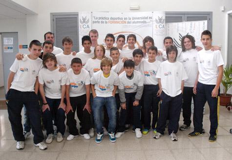 Visita del Cádiz CF Infantil al Complejo Deportivo de la Universidad de Cádiz