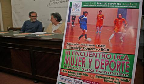 El III Encuentro UCA Mujer y Deporte se disputará este miércoles en el Complejo Deportivo de Puerto Real