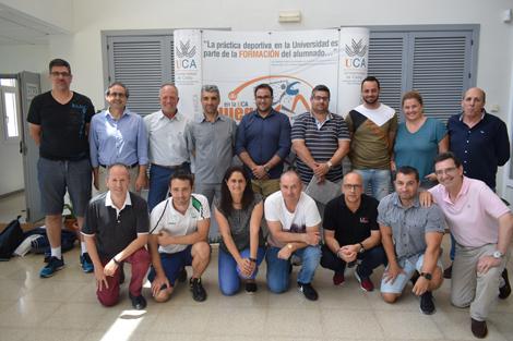 Técnicos de la Universidade do Algarve forman al personal del Área de Deportes sobre la gestión deportiva universitaria en Portugal