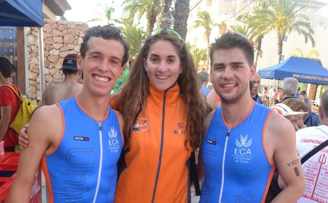 Tres alumnos UCA disputaron el Campeonato de España Universitario de Triatlón