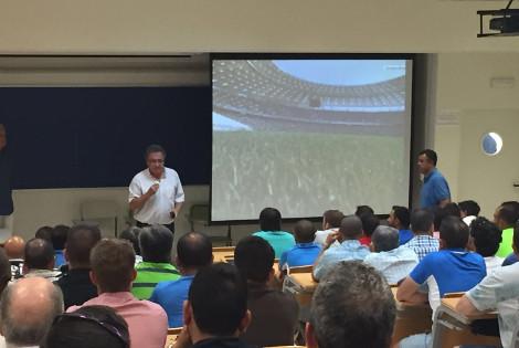 El Aula de Fútbol en las Jornadas de Actualización y Formación de Entrenadores en el Campus de Puerto Real