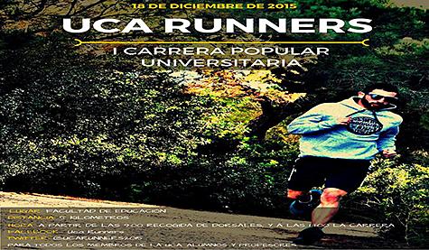 la I Carrera Popular Universitaria 'UCA Runners' se celebrará el viernes 18
