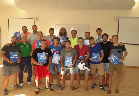 El Aula de Fútbol en la clausura del Curso de Monitor de Fútbol y Fútbol Sala en Puerto Real
