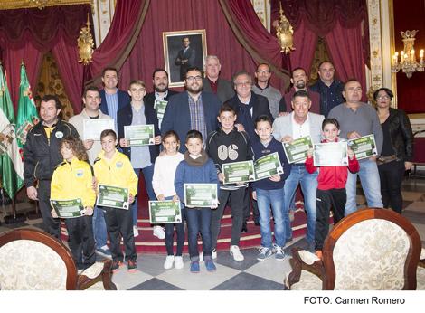 Entrega de distinciones del Aula Universitaria de Fútbol de la Universidad de Cádiz