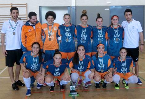 La selección de fútbol sala femenino UCA se proclama campeona de Andalucía Universitaria