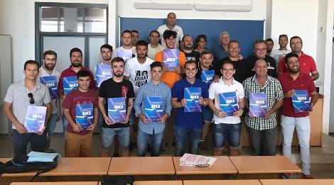 El Aula de Fútbol UCA en la Clausura del Curso de Monitor de Fútbol en Jerez