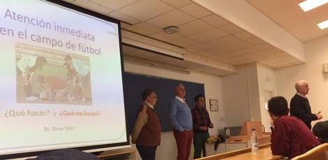 El Aula de Futbol en la Jornada de Formacion: Atencion inmediata y prevencion de lesiones