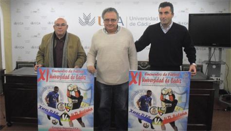 Presentado el XI Encuentro de Fútbol UCA, que disputarán la UD Roteña y el Xerez DFC