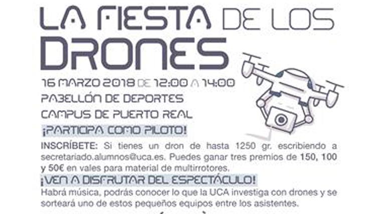 El viernes 16 de marzo de 12h a 14h celebramos la II Fiesta de los Drones en el Complejo Deportivo UCA