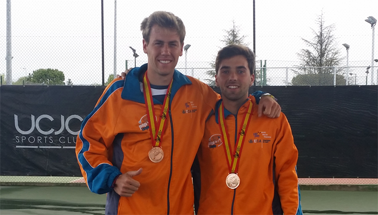 Bronce del Dobles Masculino en el Campeonato de España de Tenis