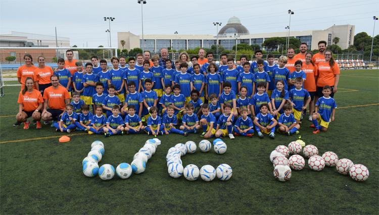 Arranca el VI Campus Infantil de Fútbol UCA  en el Complejo Deportivo de Puerto Real