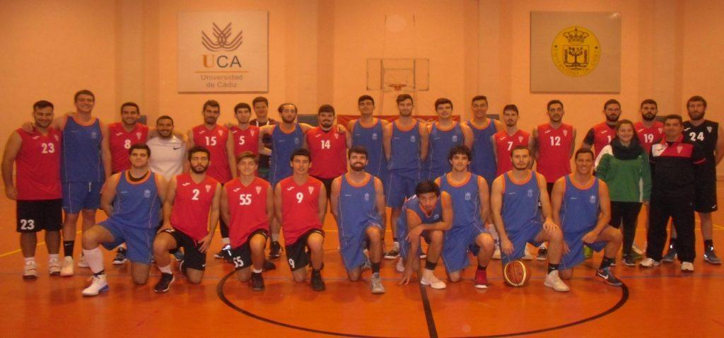 Encuentro amistoso de baloncesto masculino entre la Universidad de Cádiz y el C.D. Olímpico de Puerto Real