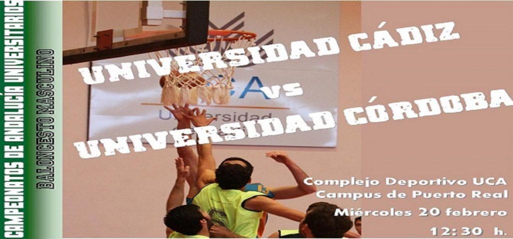 Encuentro clasificatorio para la fase final del Campeonato de Andalucía Universitario de Baloncesto Masculino