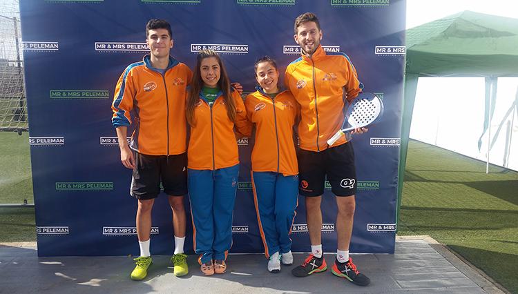 Cuatro alumnos de la Universidad de Cádiz participan en el Campeonato de España Univeristario de Pádel