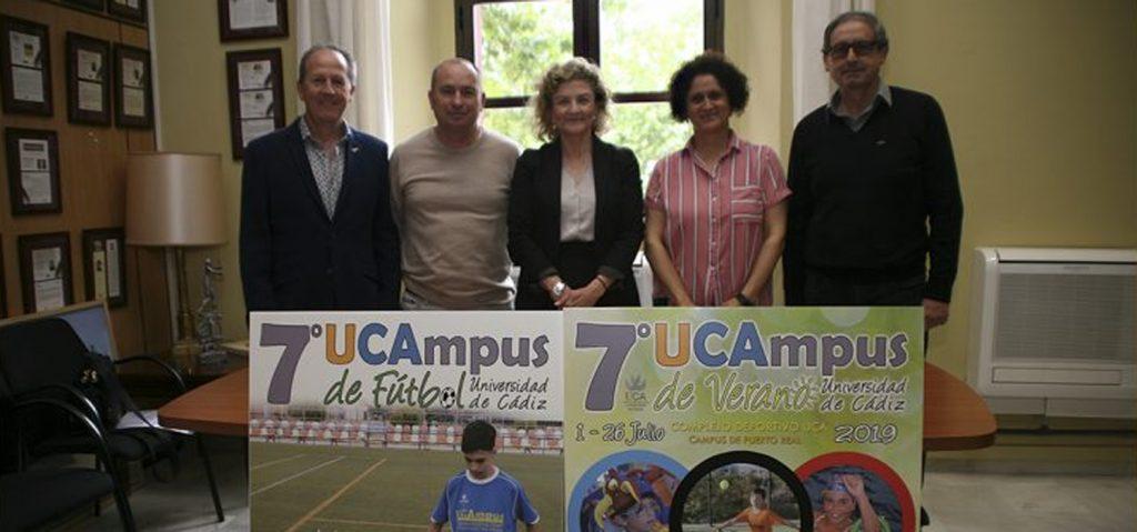 La UCA presenta la VII edición del Campus de Fútbol y del Campamento Infantil de Verano 'UCAmpus'