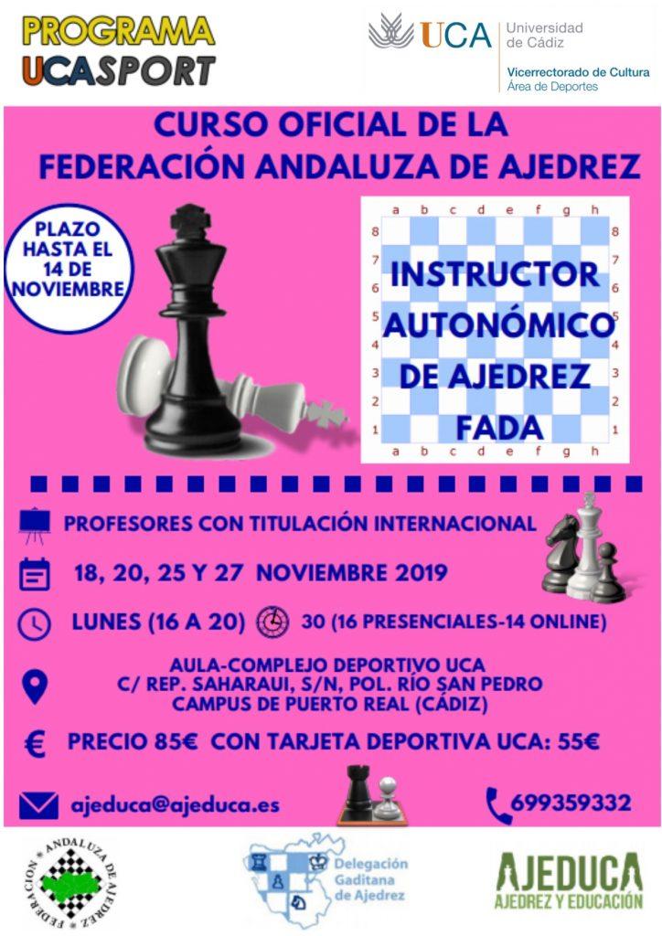Curso Intructor Autonómico de Ajedrez FADA