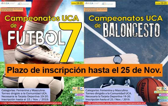 Campeonatos UCA de Fútbol 7 y Baloncesto