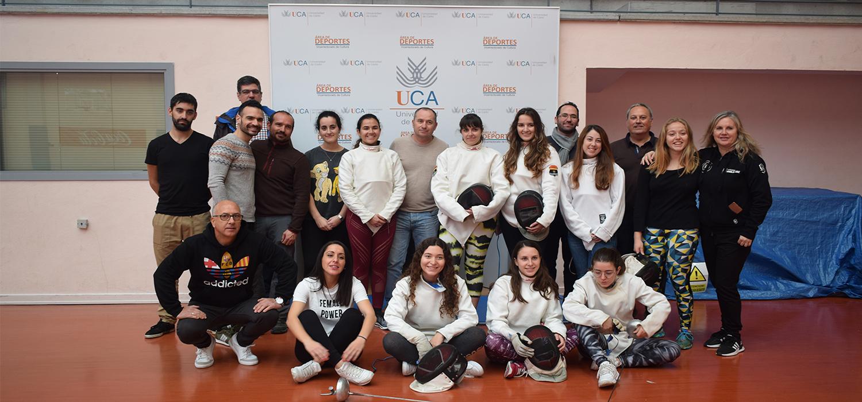 """Celebrada la """"I Jornada de Mujer y Esgrima"""" en el Complejo Deportivo UCA de Puerto Real"""