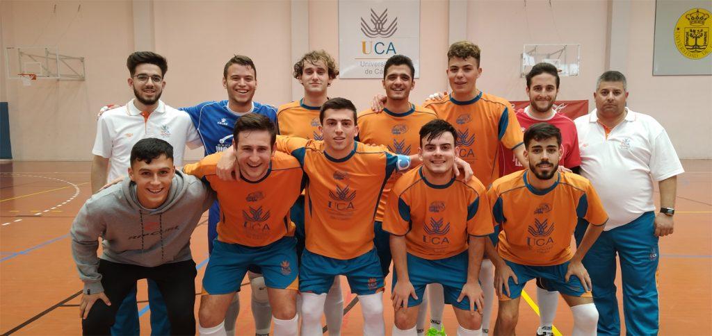El equipo de fútbol sala masculino consigue la clasificación para la fase final de los Campeonatos de Andalucía Universitarios 2020