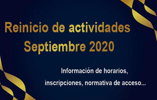 IMG Programación para Septiembre de 2020