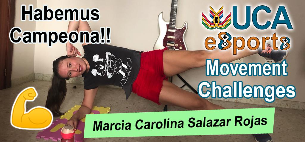Marcia Carolina Salazar Rojas, estudiante del CASEM, ganadora del II Torneo UCA eSport Movement Challenges