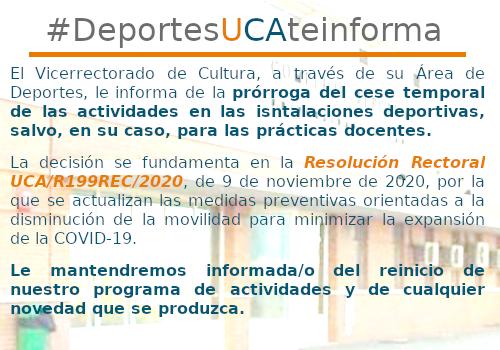 IMG Prórroga del cese de actividades deportivas UCA