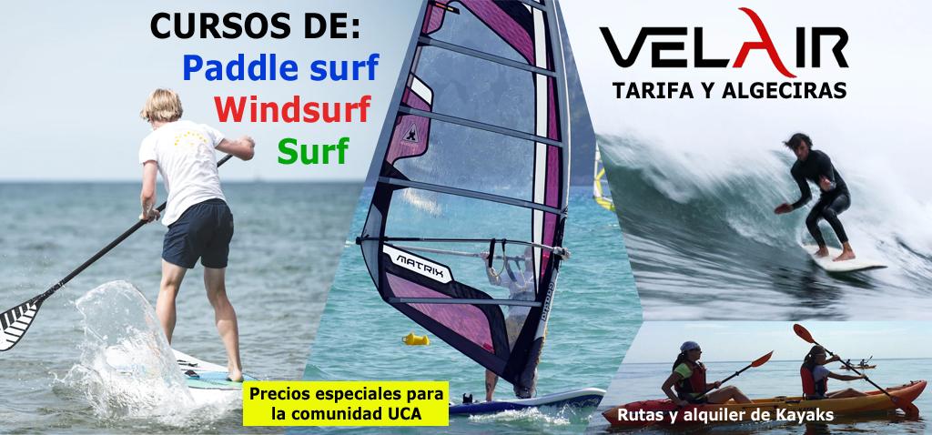 Nuevo acuerdo de colaboración con Velair para la práctica de actividades náuticas en Algeciras y Tarifa