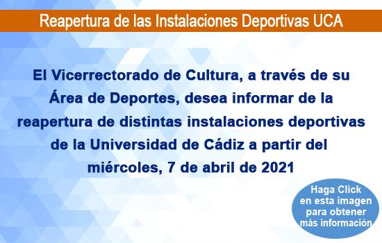 Reapertura de las Instalaciones Deportivas UCA