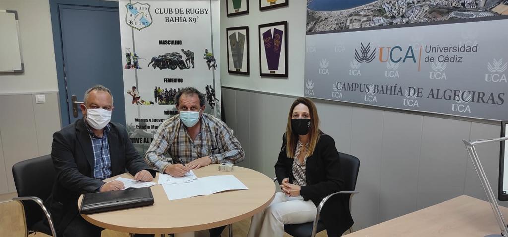 La Universidad de Cádiz firma un convenio de colaboración con el club de rugby Bahía 89 de Algeciras