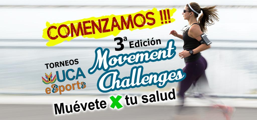 Comienza la tercera edición delTorneo UCA Muévete X tu Salud –Torneo UCA esport de Movement Challenges